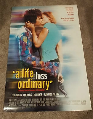 A Life Less Ordinary (1997) Original One Sheet Movie Poster 27x40 DS