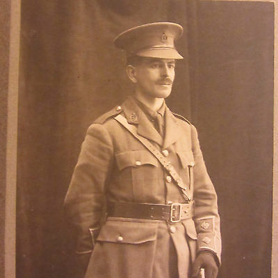 Ww1 Royal Army Medical Corps Officer Portrait Photo In Cuff Ranked Tunic