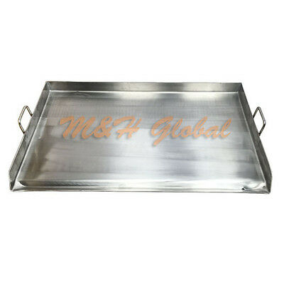 """32"""" Stainless Steel Griddle Flat Top Grill for Double Burner Stove"""