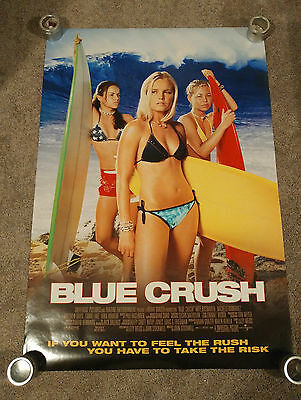 Blue Crush (2002) Original One Sheet Movie Poster 27x40 DS Kate Bosworth