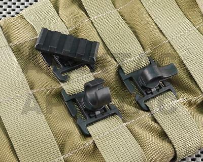 APEXTAC Molle Gear Retention Clip (Hydration Tube/Cable/Picatinny Rail) - Black