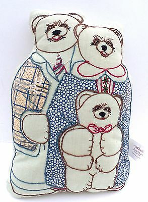 3 Bears Tender Heart Treasures Embroidered Pillow