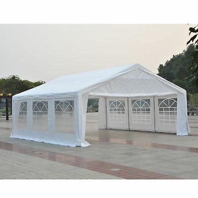 Outsunny 20 x 20ft Outdoor Patio Wedding Party Tent BBQ Canopy Gazebo White