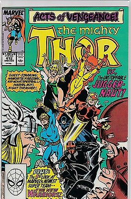 Thor #411 and #412 - NM/NM+ - 1ST APP NEW WARRIORS!! - HOT!! - TV SHOW!!