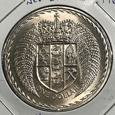 1967 New Zealand One Dollar Crown Proof Uncirculated Coin