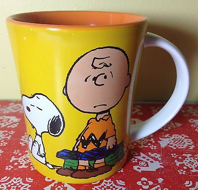 NEW Gibson Peanuts CHARLIE BROWN with SNOOPY 15 oz. Coffee Mug Cup