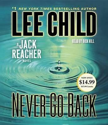 NEW Never Go Back By Lee Child Audio CD Free Shipping