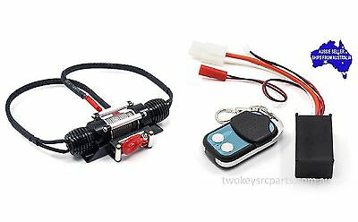 Dual motor alloy winch with wireless remote for 1:10 RC Rock Crawlers suit Axial