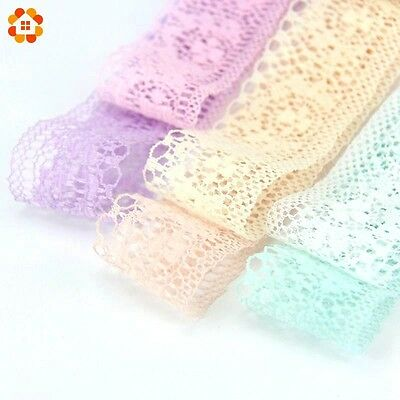 3.5 cm white- Polyester Cotton Applique Ribbon Lace Edge Trim DIY Sewing Craft
