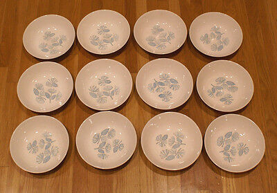 Set of 12 Stetson Marcrest China 1950's Blue Spruce Cereal Soup Bowls 6 3/4""