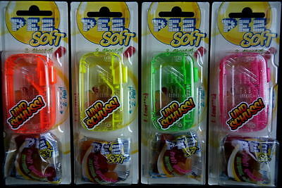 New Set Of 4  Neon Pez Soft Shooter Moc
