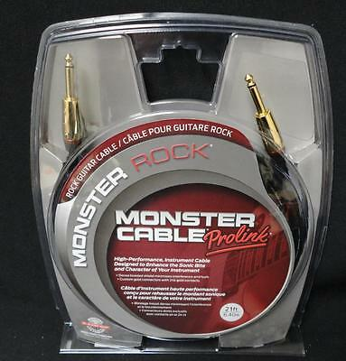 Monster Cable Monster Rock 1/4 Inch Straight to Straight Instrument Cable  21ft