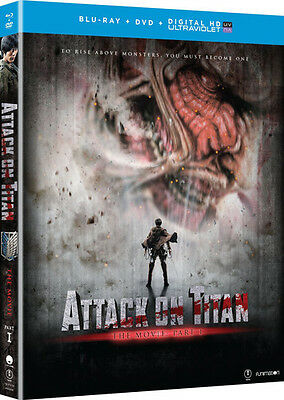 Attack On Titan The Movie: Part 1 - 2 DISC SET (2016, Blu-ray New)