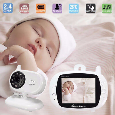 2.4G Wireless Digital 3.5'' LCD Baby Monitor Camera Audio Video Night Vision