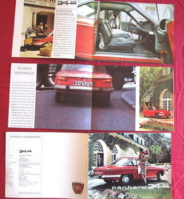 P.18 / PANHARD : coupé  24 ct    nederland text   catalogue de 1965