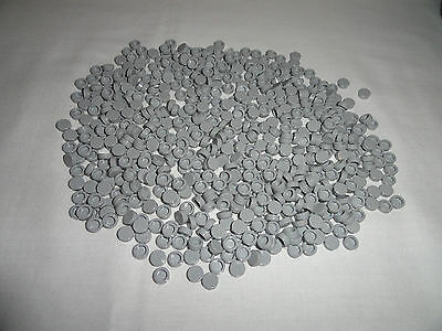LEGO Tiles Light Bluish Gray 1X1 Round Tiles x500 Smooth Finishing Floor NEW