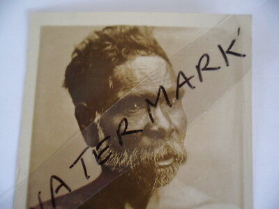 ANTIQUE VINTAGE OLD PHOTO POSTCARD of OLDER ABORIGINAL MAN with BEARD POST CARD