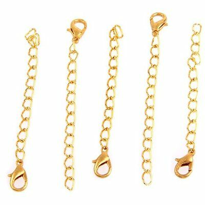 2X(20 Gold Tone Necklace Chain Extenders Findings + Clasp HOT T8