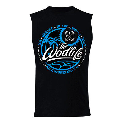 New TWL Unisex Muscle Tank Summer Vibes - Black from The WOD Life