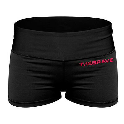 The Brave Women's Core Pro Shorts - Black & Pink The WOD Life Crossfit