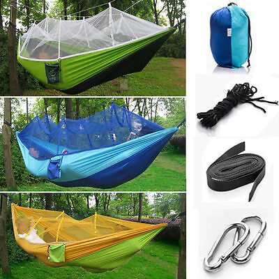 Double Person Hammocks With Mosquito Net for Outdoor Travel Camping Picnic Patio