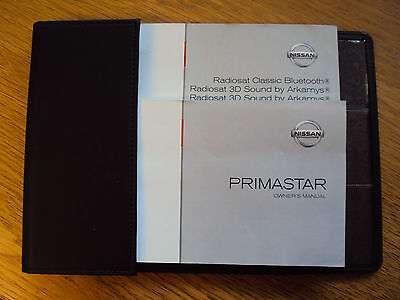 Nissan Primastar Owners Handbook Manual and Wallet X83 2006-14