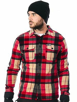 Thirty Two Red Rest Stop Woven Long Sleeved Snowboarding Shirt