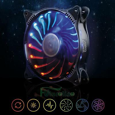 12V 3pin 18LED RGB Light 120mm PC Cooling Case Fan CPU Cooler Deep Silence Quiet