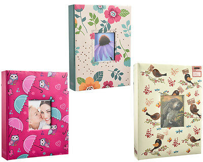 "5"" X 7"" Designer Photo Album with 200 Pockets In 3 Designs"
