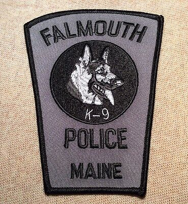 ME Falmouth Maine K-9 Unit Police Patch
