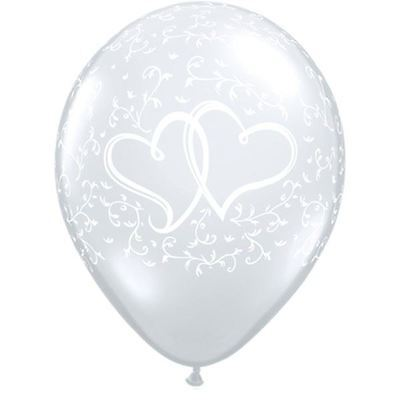 Entwined Hearts Diamond Clear X5 Wedding Balloons Decorations