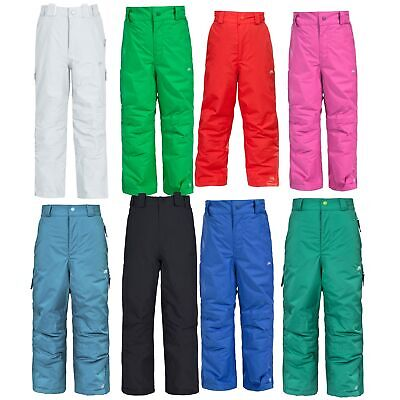 Trespass Nando Boys Girls Insulated  Waterproof Ski Pants with Detachable Braces