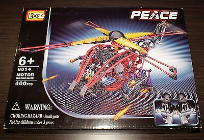 Electric Helicopter Building Block Kit (400 pieces), LOZ 6014, Brand New, Sealed