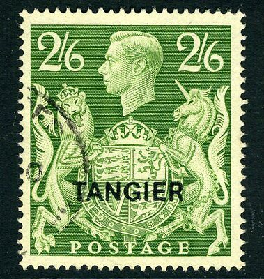 MOROCCO AGENCIES (TANGIER)-1949 2/6 Yellow-Green Sg 273 VERY FINE USED V13394
