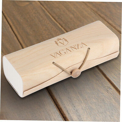Portable Wooden Sunglasses Box Case Eye Glasses Clam Shell Protector BH