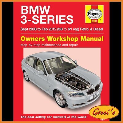 5901 Haynes BMW 3-Series (Sept 2008 to Feb 2012) 58 - 61 Service Manual