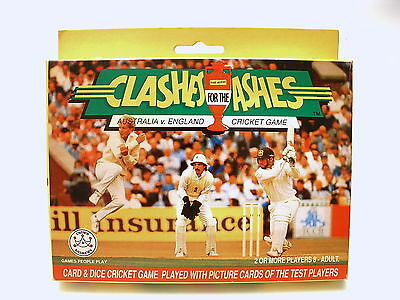 CLASHES FOR THE ASHES Test Cricket Game ©1991 By Crown Andrews *UNUSED/V.N.MINT*