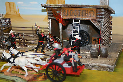 DaBro Conversion Wild West Clay County Fire Wagon w. Timpo figures