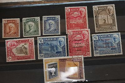 Aden card of stamps - all mnh lot 321