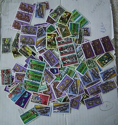 Nigeria Used Stamps ( Naira Currency)