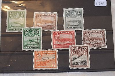 Antigua card of stamps - lot 327