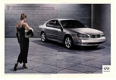 """Lot of 2 Infiniti 2002 I35 Review Article & Print Ad """"Luxury Meets Sport"""""""