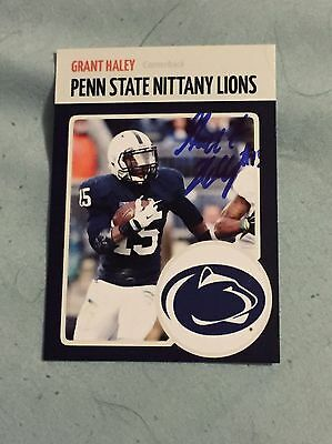 Grant Haley 2016 Penn State Nittany Lions Football Autograph RC Big 10 Champs