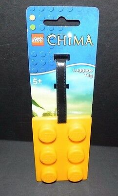 LEGO CHIMA - LUGGAGE - BOOK BAG TAG - YELLOW COLOR ~ NEW  - Free Shipping!