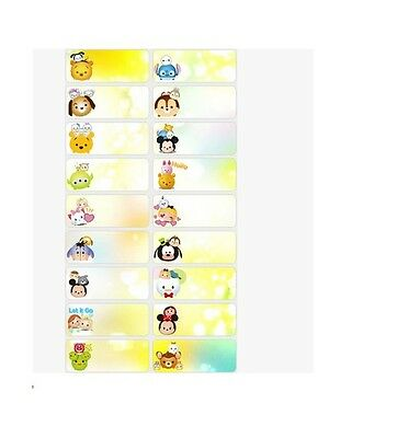 Tsum Tsum Mickey Frozen Personalized Labels Stickers 78pcs Water Proof School