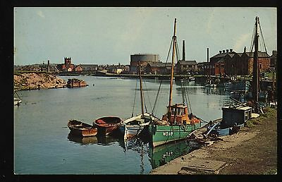 The Old Harbour Workington Cumberland Vintage Photo Postcard 19