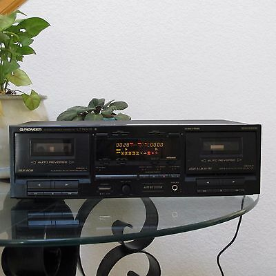Pioneer CT-W601R Vintage Dual Stereo Tape Cassette Deck Player Recorder JAPAN
