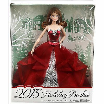 Mattel Barbie Collector 2015 Holiday Barbie Doll -  Auburn