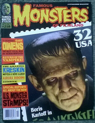 famous monsters of filmland #218,sept 1997,nm-,bagged & boarded