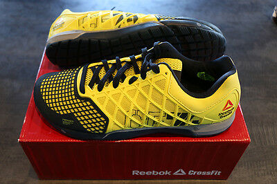 Chaussures Reebok Cross Fit Nano 4.0 Jaunes pour hommes, taille 44